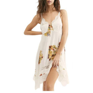 Free People Intimately Table For Two Trapeze Slip Dress NWT XS Floral Lace